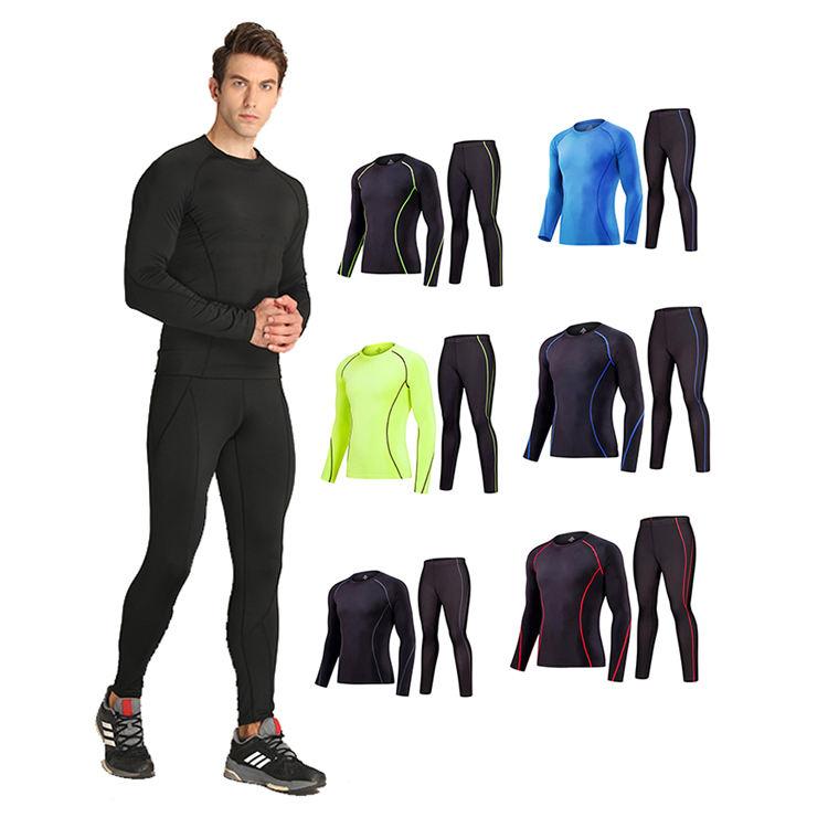 Wholesale Compression Gym Apparel Men Long Sleeve Sports T Shirt Custom Logo Male Fitness Bodybuilding Clothing