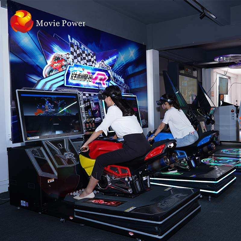 Arcade game center Vr motorbike game machine 9d Vr motor racing simulator easy vr new business