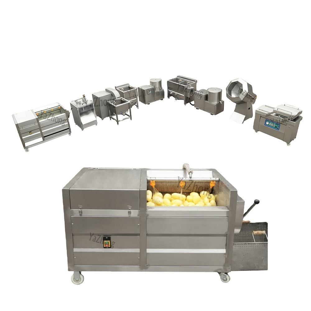 Small scale semi-automatic fried french fries making machine french fries production line