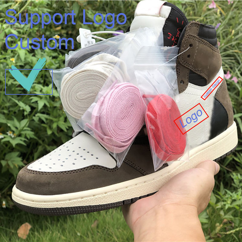 Wholesale Custom Logo Travis Scotts x1 High OG TS SP Cactus Jack Basketball Shoes for Men Chaussure Homme outdoor EU 36-45