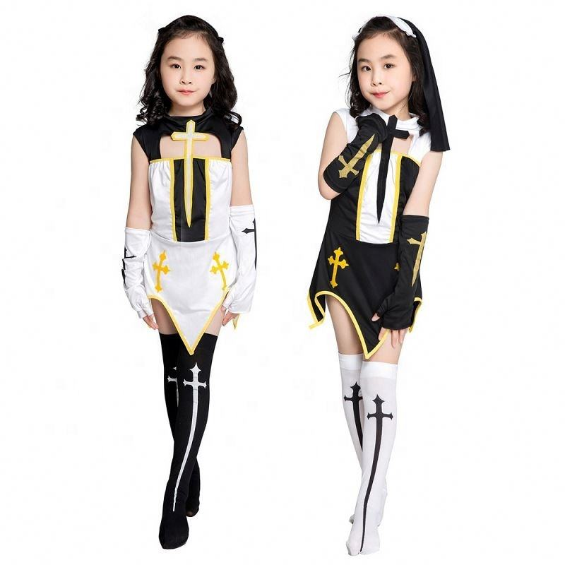 Children's Cosplay Girl Priest Nun Cosplay Costume Stage Performance Costume Children's Day