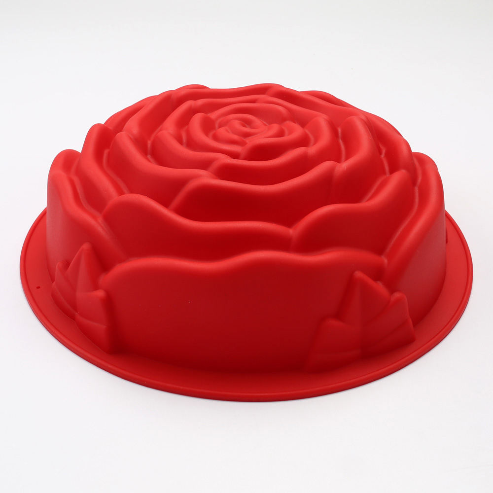 Rose Cake Mold For Baking、Non-Stick Silicone Bread Cake Baking Tins