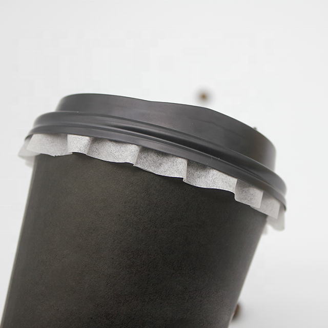 Disposable Leakproof packing paper lacy plastic leak proof paper round coffee cup leak-proof gasket