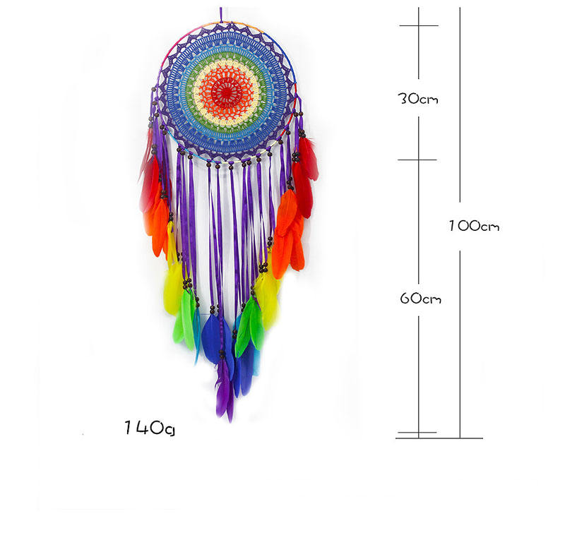 30 CM Ring home decorative seven chakra dream catcher