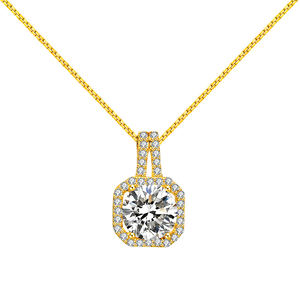 RINNTIN SN174 Bag pendant necklace 925 sterling silver charming 14k gold necklace jewelry