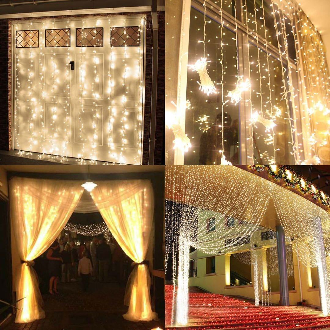 300 Led Curtain Fairy Christmas new year Wedding Party 3m Decorative Waterproof Outdoor Garden Home Decoration String Lights