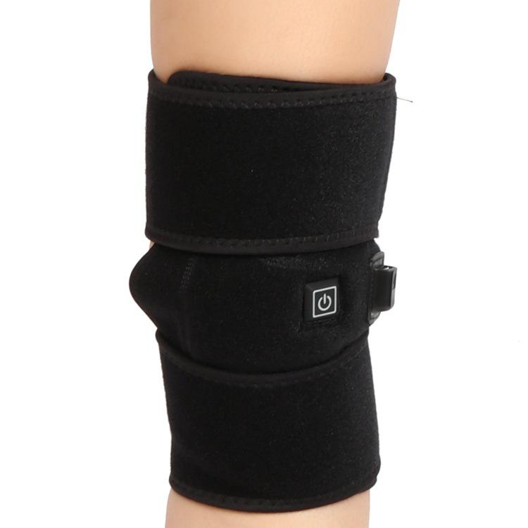 USB Charge Heating Treatment Knee Sleeve Support Elastic Sports Wrap Knee Protector Pad