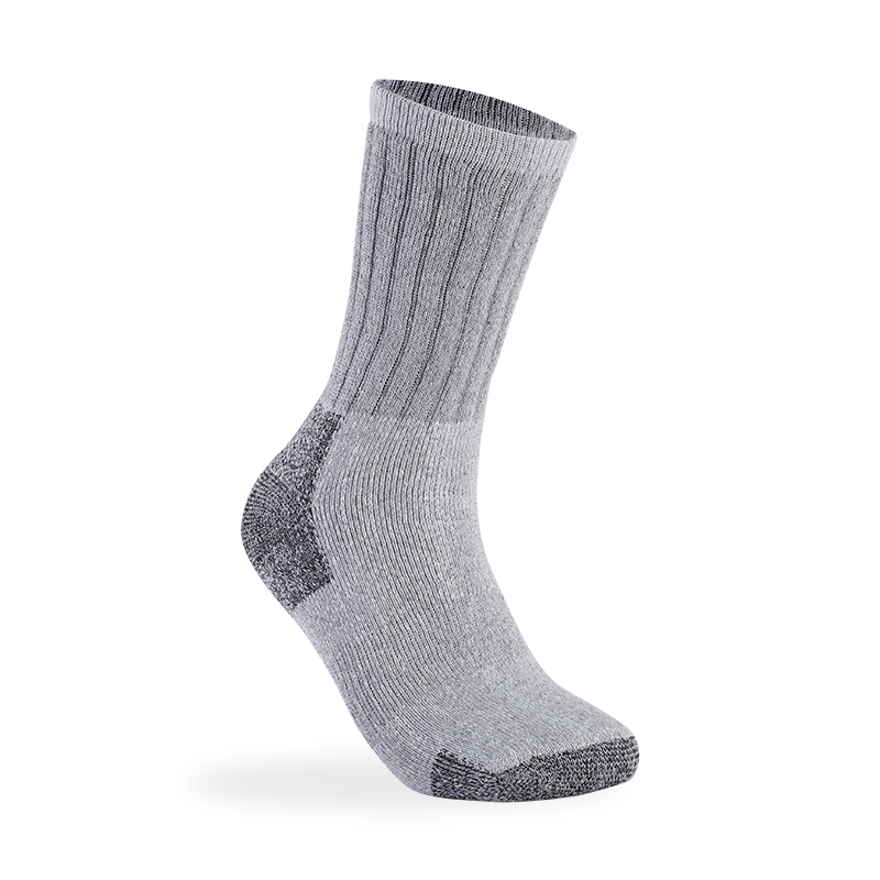 Wholesale Order Long Solid Color Grey Merino Wool Sock