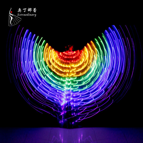 Adult Belly Dance Shining LED Performance Butterfly Wings BellyDance Carnival Shows Led Costumes