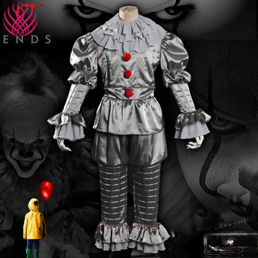 Costume de Cosplay film <span class=keywords><strong>Clown</strong></span>, glissades imprimée aspiration du roi: It, Halloween, accessoires de films