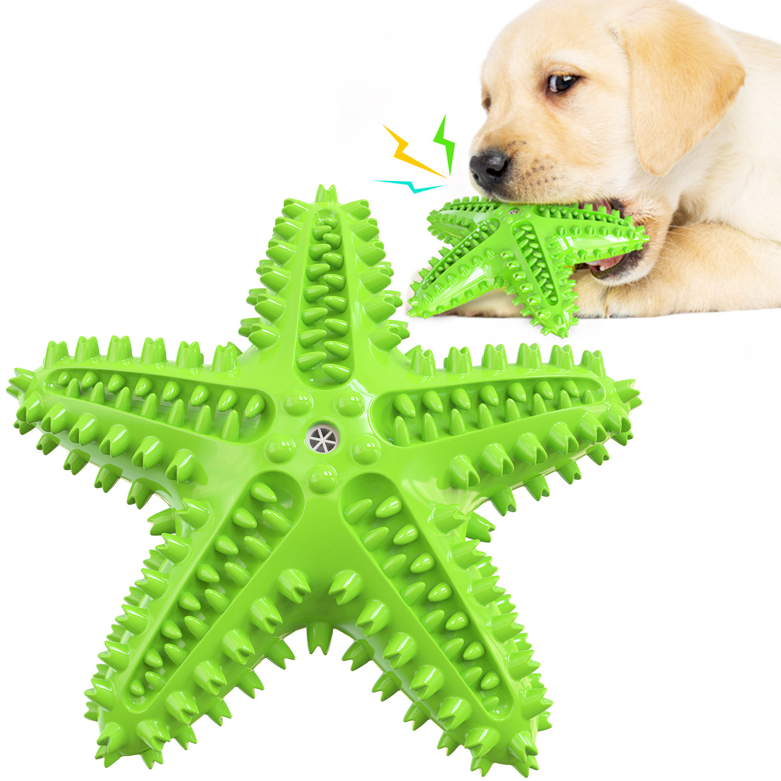 Pet Toys new Rubber dog toys dog food Starfish chewing toys