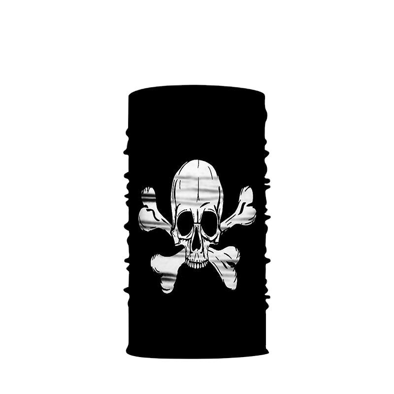 Skull Face Cover Multi Purpose Bandana Tube Camo Headwear.