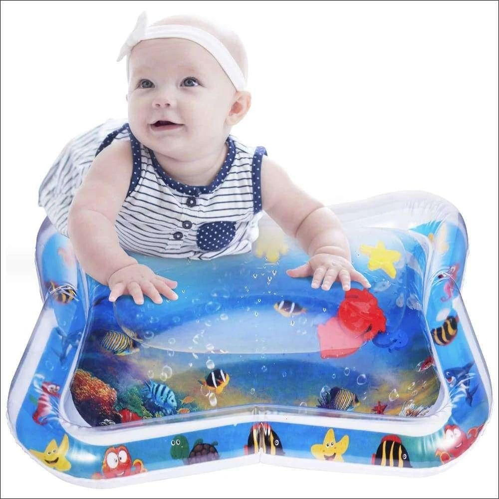Inflatable Tummy Time Water Mat blue Infant Baby Play Mat Toy for Newborn Play Activity Center
