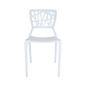Factory supply directly prime PP material dining white chair
