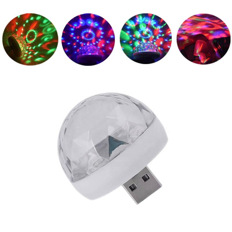 Led Small Magic Ball for led stage light Party Sound Control Mini effect USB ball dj lights disco