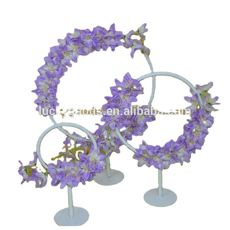 LDJ727 new design round circle metal table centerpiece