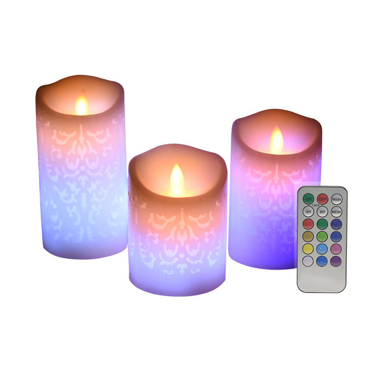 6Pack Warm Colour Changing Flameless Solar Battery Votive tea light candles For Christmas, Home Decoration
