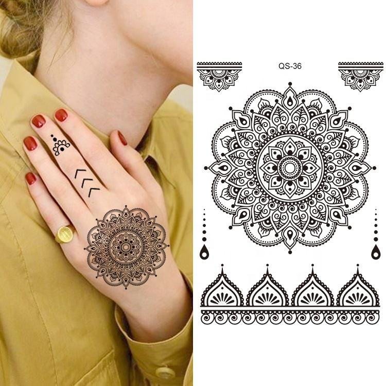 High Quality Water Transfer Temporary Tattoo Henna Stickers For Hands