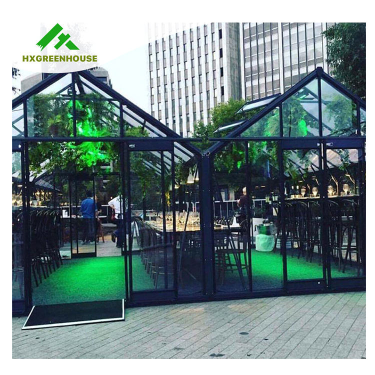 Heavy duty luxury glasshouse aluminium garden indoor tropical victorian winter glass greenhouse multi-span greenhouses