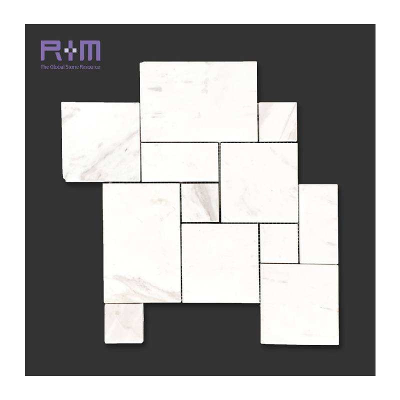 Chian Factory Wholesale Volakas White Marble Irregular Mosaic tiles for Wall and Floor