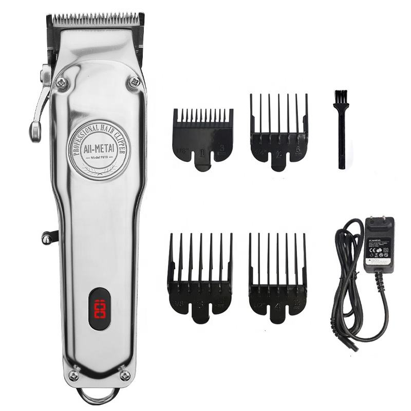 Classico Professionale All Metal 100 Anno Tagliatore di Display Lcd Cordless 1919 Parrucchieri Barbieri <span class=keywords><strong>Hair</strong></span> Trimmer