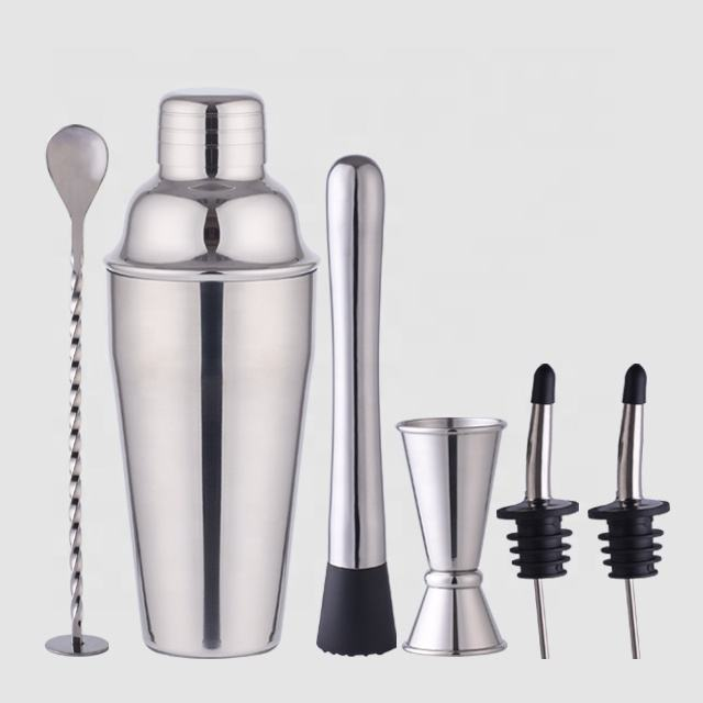 Factory Direct 700ml stainless steel cocktail muddler color gift box barware rustic bar tool gift bartender set