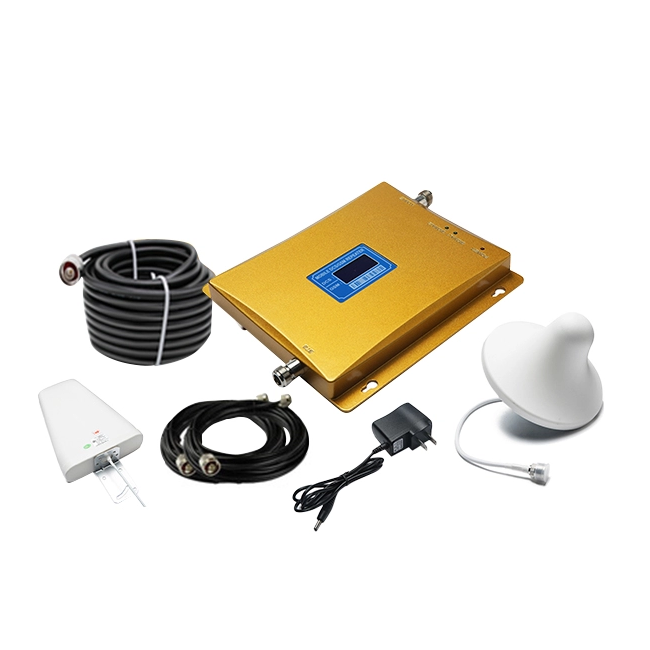 B1, B3 and B5 frequency band supported 850 1800 2100 mhz triband cdma dcs wcdma cell phone signal booster repeater