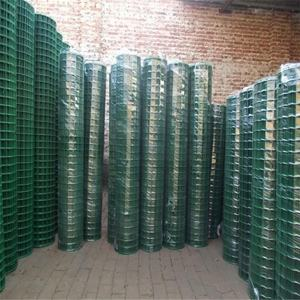 Green PVC coated welded wire mesh fence mesh machine
