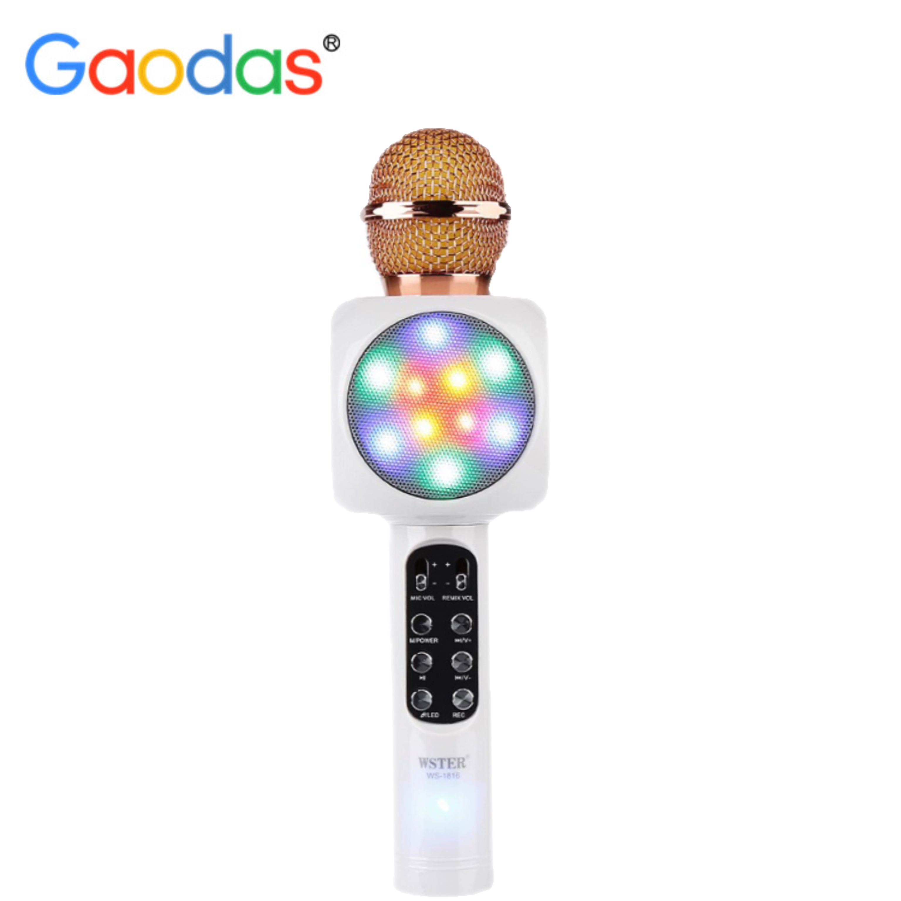 Best Karaoke Microphone Wireless Portable WS1816 LED Light karaoke microphone for home KTV Singing