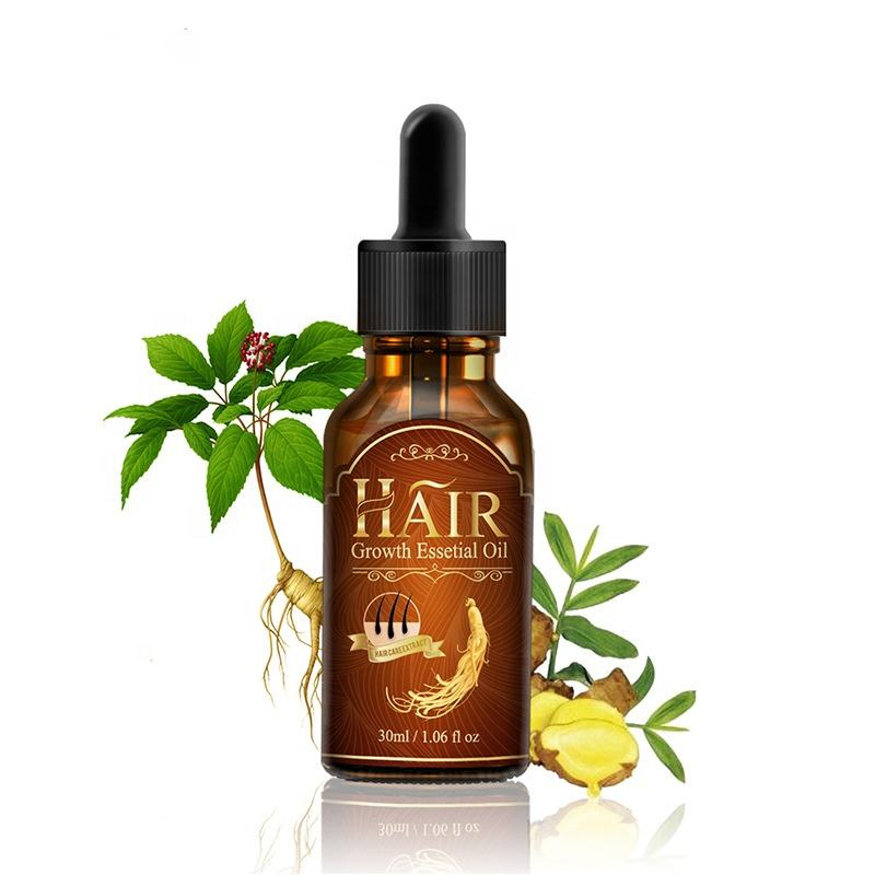 Hair Growth Oil treatment hair drops growth with Ginseng extract, ginger extract, grape seed oil hair care for woman and man