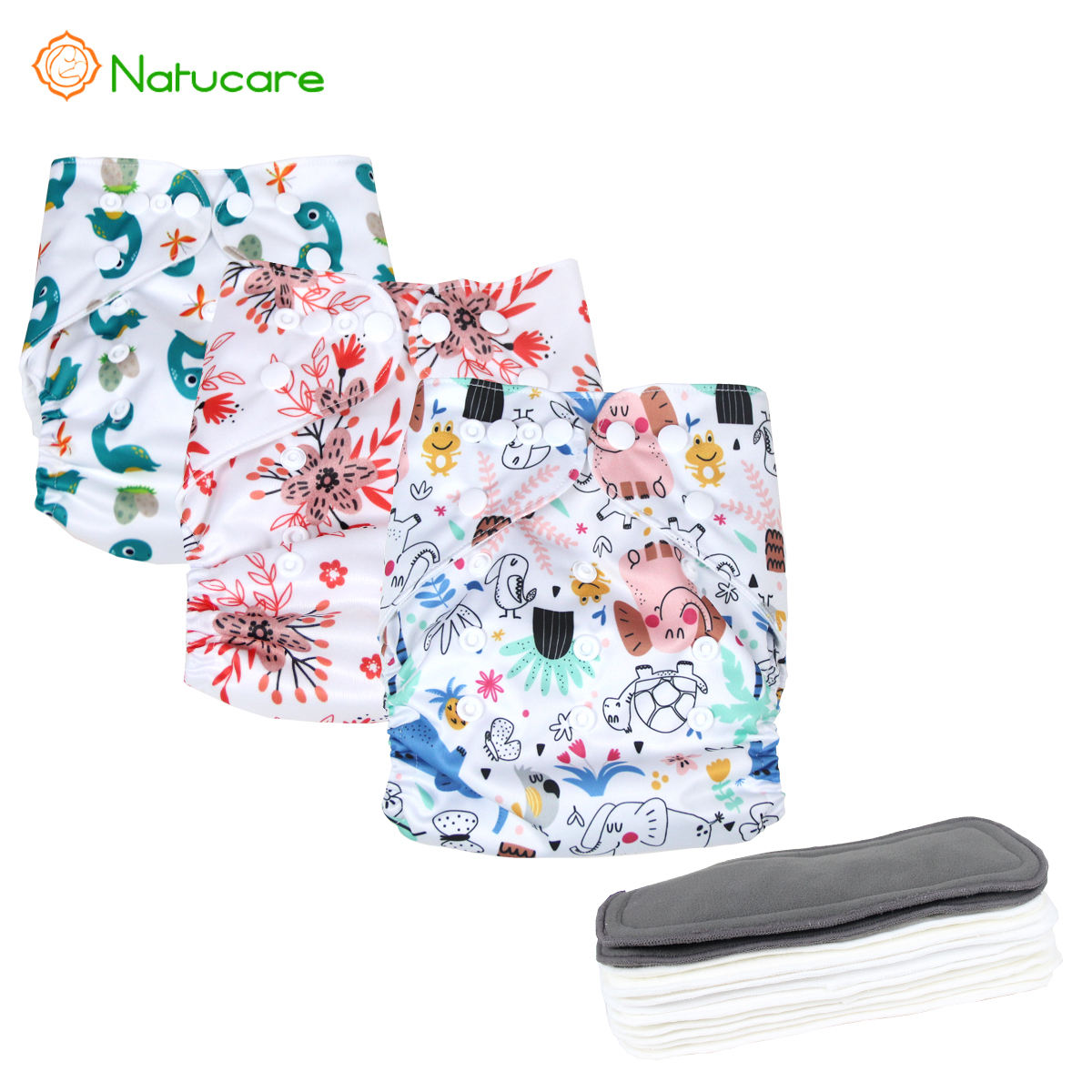Natucare Fun Pattern Toddler Reusable Cloth Diapers nappies