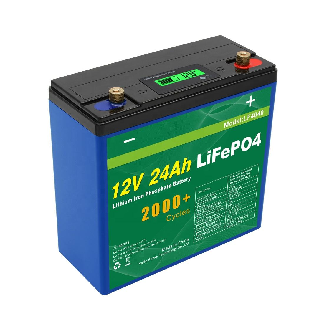 Fast Shipping Iron Phosphate Lithium Lifepo4 Storage Batteries 12v 24Ah Lithium Ion Battery For Solar Energy Storage Systems