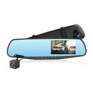 2019 HOT selling HD1080P rearview mirror car dvr with dual camera for car dash cam