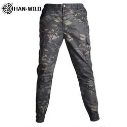 HAN WILD Gym Leggings Unisex  Camouflage Tactical Pants War