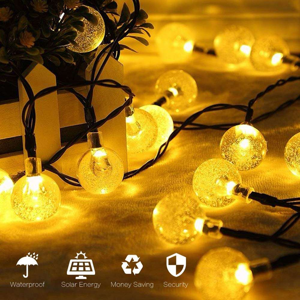 Bolylight 30 Led Solar String Lights Globe Crystal Ballen Waterdicht Kerstverlichting Decoratieve Voor Kerstboom/Tuin