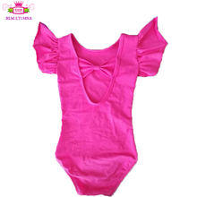 2020 RTS Product Flutter Sleeve Girl Leotards Low back Toddler Leotard Wholesale cute Baby dance leotards With Bow On The Back