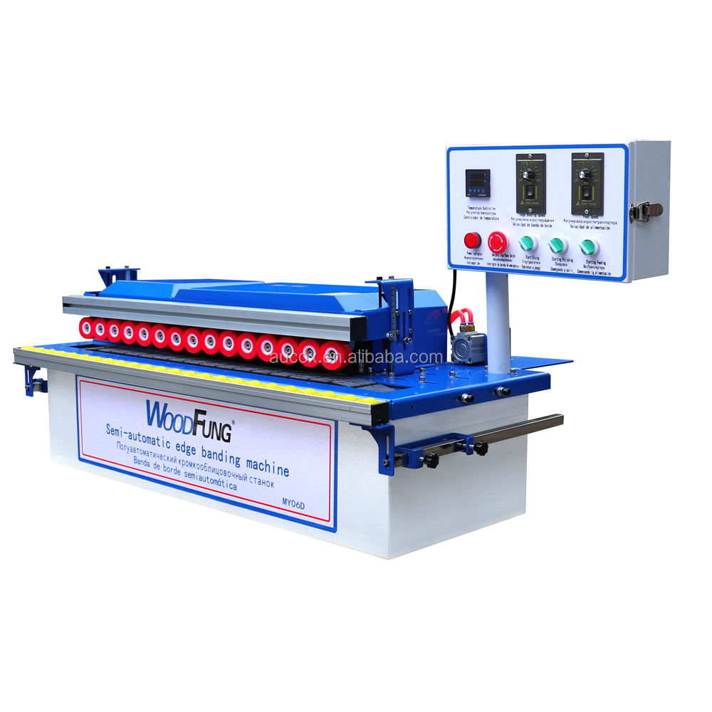 MY06D mini MDF double pvc edge trimmer manual edge banding machine