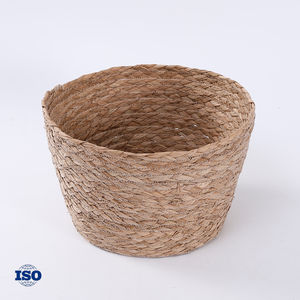 Sample Available For Sundries Storage Round Seagrass Basket Vietnam