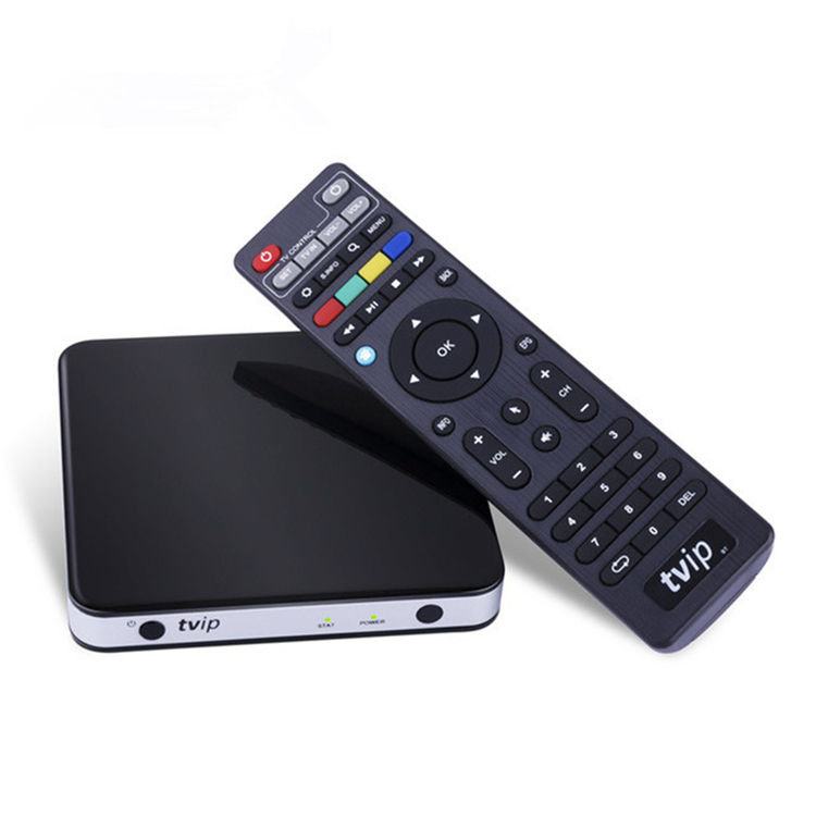 Best Seller TVIP 605 Mini Dual OS Android/Linux tv box Amlogic S905X Árabe caixa de iptv WI-FI Airplay IPTV caixa de transmissão 410 412 4