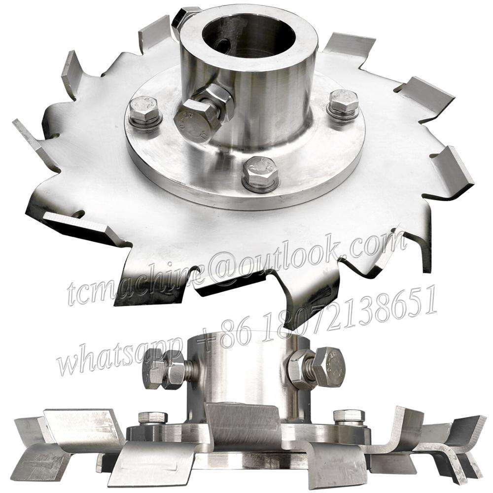 SS316L cowless disc sawtooth mixer for diameter 50mm shaft