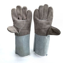 Stitching Color Hand Cow Split Leather Safety Welding Gloves