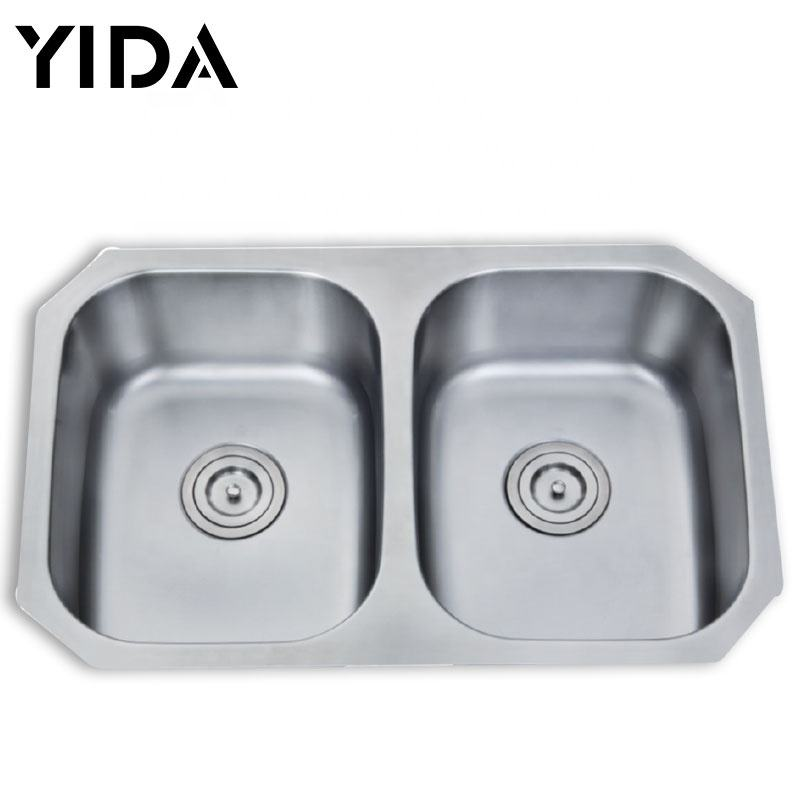 Stainless Steel Bathroom Sink Farmhouse Kitchen Double Sink