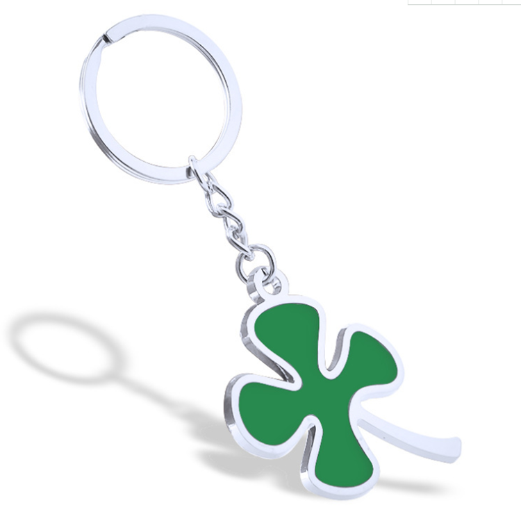Schnelle <span class=keywords><strong>Lieferung</strong></span> Vier Blätter <span class=keywords><strong>Klee</strong></span> Keychain Metall Emaille Nette Keychain
