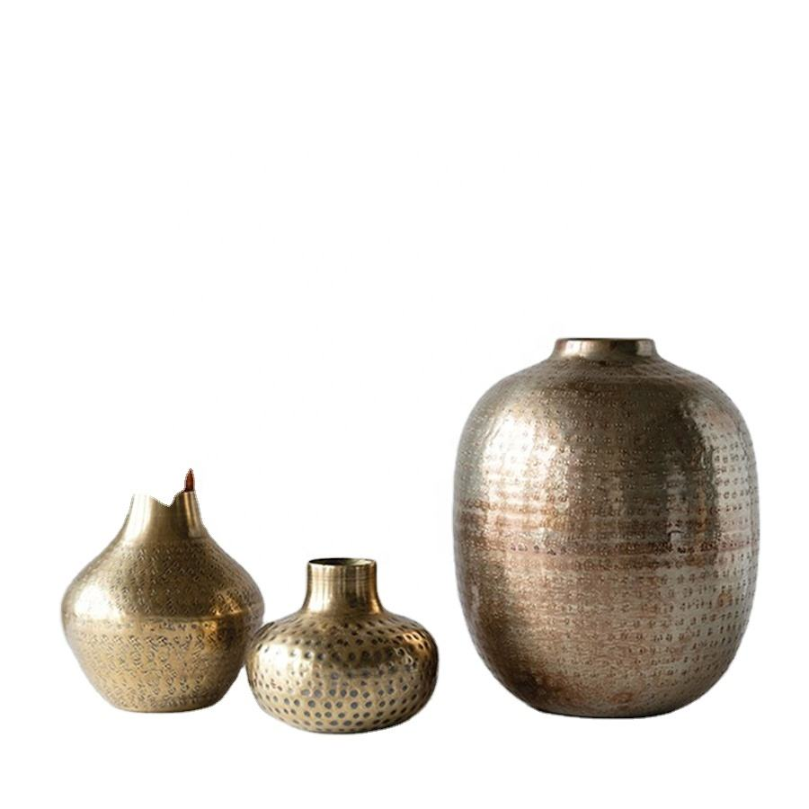 Antique Hammered Vase Collection