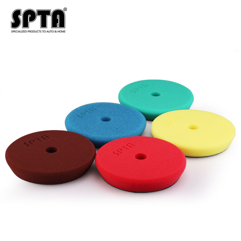 SPTA 5 inch RO/DA Car Polishing Pads With Round Hole Buffing Pads For Car Care Car Detailing