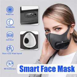 Smart Reusable SportMask with Fan