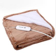 Reversible Sherpa / Fleece Super Cosy Flannel Heated Electric Throw Blanket for Bed or Couch