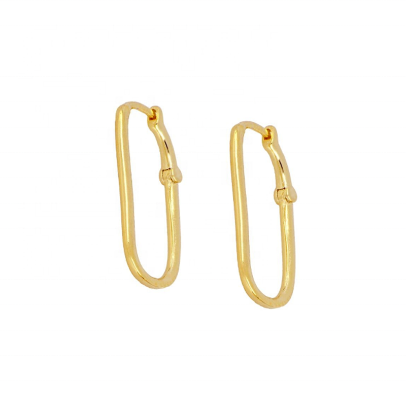 INS fashion classic S925 silver 18k gold U-shaped all-match hoop earrings for party work