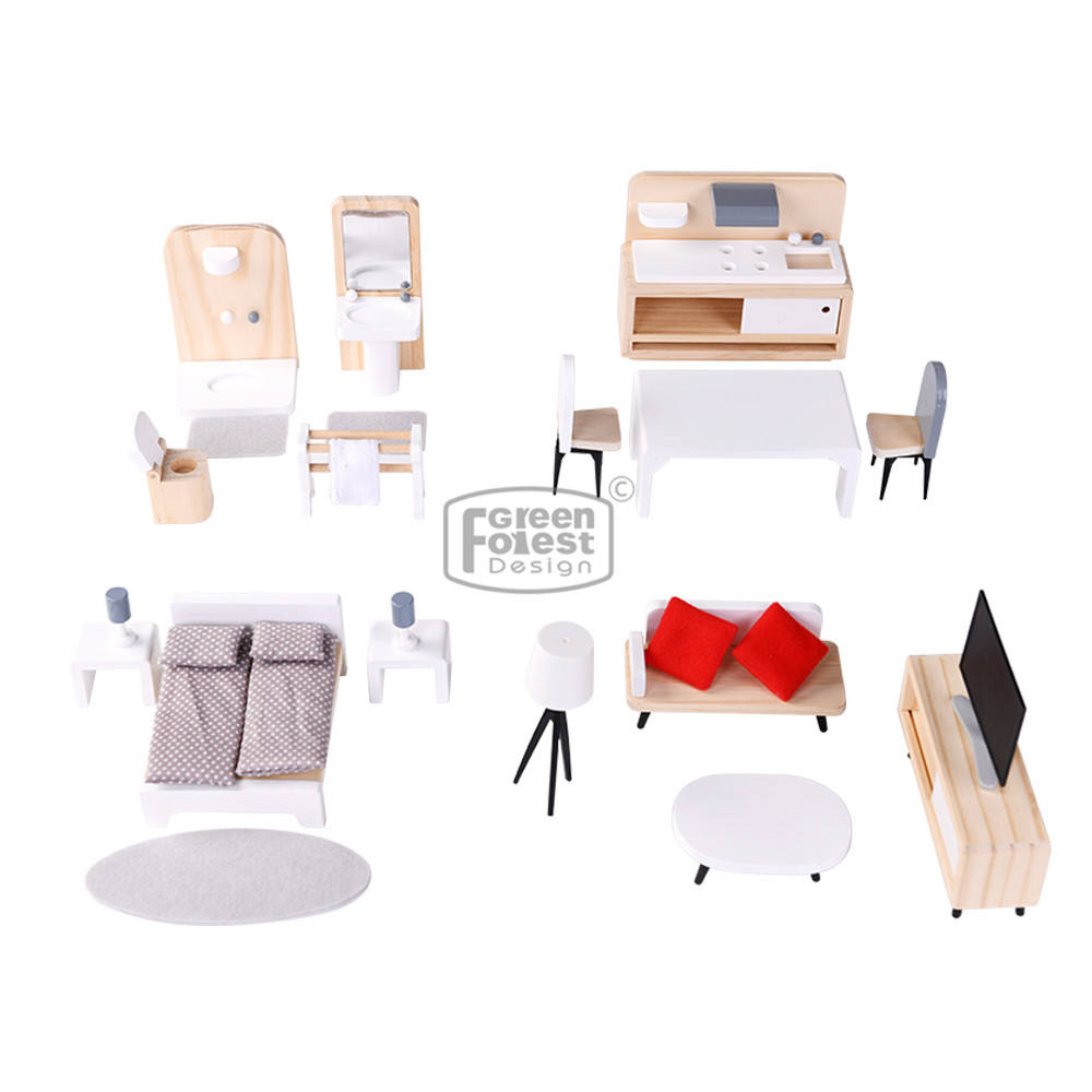 Modern Miniature Furniture Set Baby Doll House Furniture