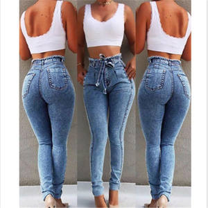 Custom Ropa De Mujer Pant Women Denim Skinny Calca Feminina Pantalon Lady Femme Stretch Fringe Women Jeans